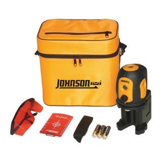 JOHNSON Pendulum Self Leveling Dot Laser Level, Horizontal and Vertical, Interior and Exterior   Rotary and Straight Line Laser Levels   1YRV2|40 6680