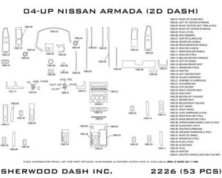 2004 2007 Nissan Titan Wood Dash Kits   Sherwood Innovations 2226 CF   Sherwood Innovations Dash Kits
