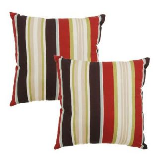 Hampton Bay Majestic Stripe Outdoor Throw Pillow (2 Pack) 7050 02000200