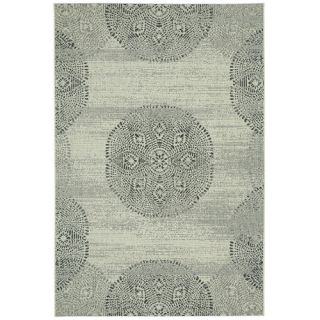 Capel Rugs Elsinore Cinders Green Mandala Outdoor Area Rug