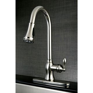 Classic Satin Nickel Single  Handle Faucet with Pull Down Spout
