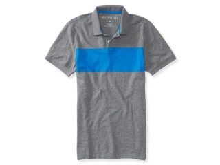 Aeropostale Mens Colorblock Stripe Rugby Polo Shirt 053 XL