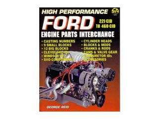 High Performance Ford Parts Numbers List Interchange 221 To 460 Cid