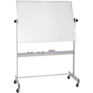 CommClad Thermal Fused Dot Grid Free Standing Reversible Whiteboard, 3
