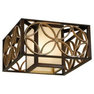 Feiss Remy 2 Light Heritage Bronze Indoor Flushmount FM330HTBZ/PGD