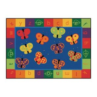 Carpets for Kids Literacy 123 ABC Butterfly Fun Kids Area Rug