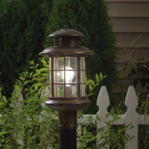 Kichler 9962RST Outdoor Light, Transitional Post Mount 1 Light Fixture   Rustic (Open Box Item)