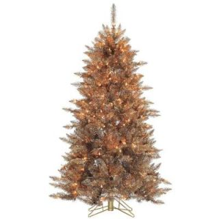 Sterling 5 ft. Pre Lit Layered Copper and Silver Frasier Fir Artificial Christmas Tree with Clear Lights 6027  50CP