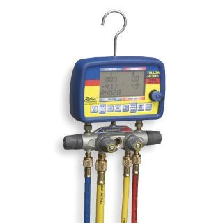 YELLOW JACKET Digital Manifold Gauge & Hose Set,22 Ref   Manifold Gauge Sets   2NXE5|40805