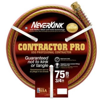 Neverkink PRO 3/4 in. Dia x 75 ft. Commercial Duty Water Hose 9875 75