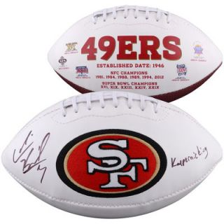 Colin Kaepernick San Francisco 49ers  Authentic Autographed White Panel Football with Kaepernicking Inscription