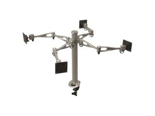 Cotytech Quad Monitor Desk Mount Dual Arm   Clamp Base