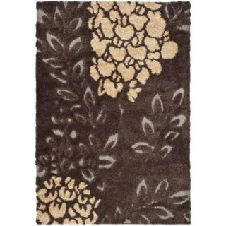 Safavieh Florida Shag Dark Brown/Grey 4 ft. x 6 ft. Area Rug SG456 2880 4