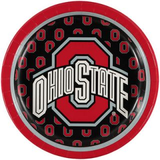 Ohio State Buckeyes 8 Pack Lunch Plate Set