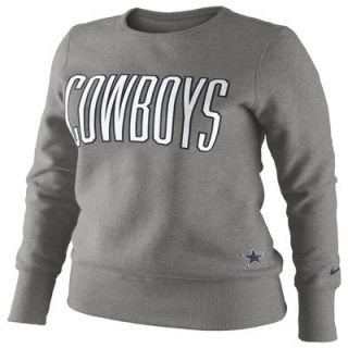 Nike Dallas Cowboys Ladies Tailgater Fleece Sweatshirt   Ash