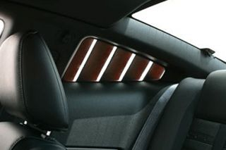 2010 2014 Ford Mustang Window Louvers   Street Scene 950 70773   Street Scene Side Window Louvers