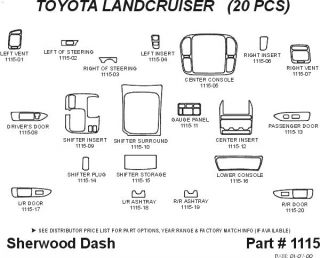 1998 2002 Toyota Land Cruiser Wood Dash Kits   Sherwood Innovations 1115 N50   Sherwood Innovations Dash Kits