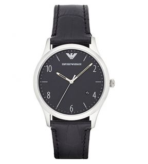 EMPORIO ARMANI   AR1865 stainless steel and leather watch