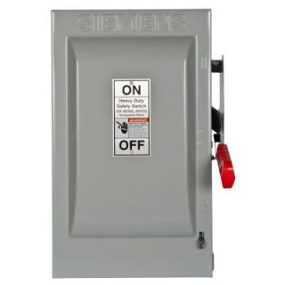 Siemens Heavy Duty 60 Amp 600 Volt 3 Pole Indoor Non Fusible Safety Switch HNF362