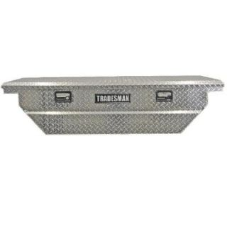 Lund 63 in. Mid Size Single Lid Aluminum Beveled Low Profile Cross Bed Truck Tool Box 9304