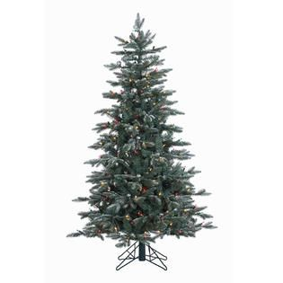Vickerman 5 Prelit Crystal Frosted Balsam Fir Artificial Christmas