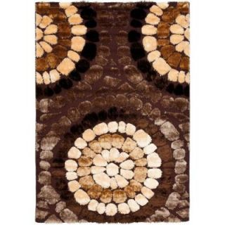 Safavieh Miami Shag Brown/Multi 4 ft. x 6 ft. Area Rug SG357 2591 4