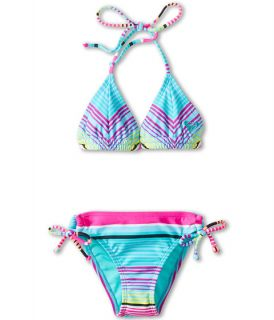 Roxy Kids Tropical Stripe Double Casing Tri Set Big Kids