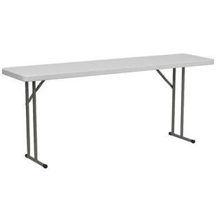 Flash Furniture 18 W Blow Molded Plastic Folding Table in Granite