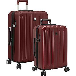 Delsey Helium Titanium 2 Piece Expandable Hard side 4 Wheeled Luggage Set, 21, 25