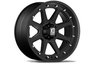 "XD Series XD79889055712N   5 x 5.5"" Bolt Pattern Black 18"" x 9"" 798 Addict Matte Black Wheels   Alloy Wheels & Rims"
