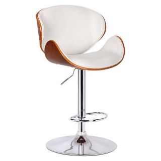 Boraam Industries Osa Adjustable Swivel Stool   White