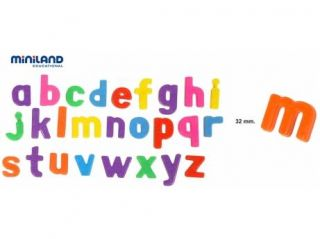 Miniland Educational 97926 Magnetic lower case letters : 62 pieces / box