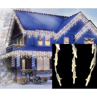 Christmas Central 105 Count Indoor/Outdoor Multi Function White LED Mini Christmas Icicle Lights