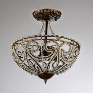 Warehouse of Tiffany Drake Modern Roman 3 Light Antique Bronze Indoor Chandelier RL7971D