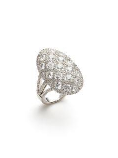 Diamond Oval Criss Cross Ring by Odelia Jewelry