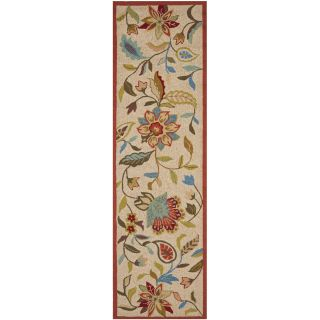 Safavieh Four Seasons Ivory/Rust Outdoor Area Rug