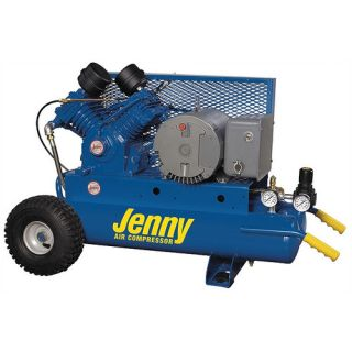 Jenny Products 5 HP Electric Motor 230 Volt Two Stage Wheeled Portable