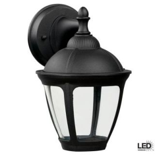 Hampton Bay Dawson Outdoor Black LED Wall Mount Lantern Twin Pack DWSW20030LBKC