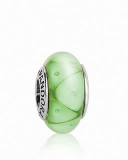 PANDORA Charm   Murano Glass & Sterling Silver Green Looking Glass, Moments Collection