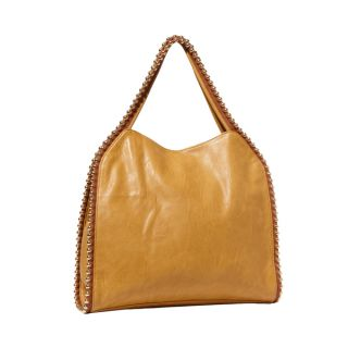 Big Buddha Grayson Top Zip Butterscotch Hobo   16782272