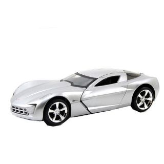 Jada Toy Dub City 132 Scale Diecast Vehicle   Silver 2009 Corvette Stingray Concept    Jada Toys