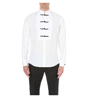 DSQUARED2   Regular fit stretch cotton tuxedo shirt