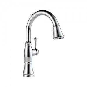 Delta 9197 DST Cassidy Single Handle Pull Down Kitchen Faucet   Chrome