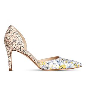 LK BENNETT   Flossie floral print leather courts
