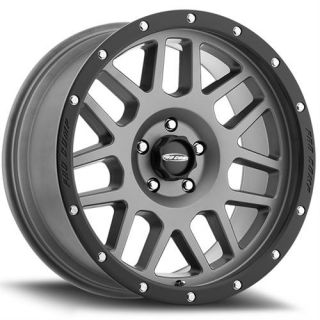Pro Comp Alloy Wheels   Series 40, 20x9 with 8 on 170 Bolt Pattern   Dark Gray with Black Lip
