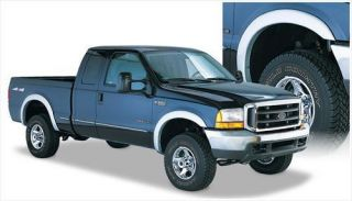 Bushwacker   Bushwacker Front and Rear Street Style Fender Flares (Black) 20504 02   Fits 1999 to 2007 Ford F 250, F 350 and F 450 Super Duty (Please check fitment)