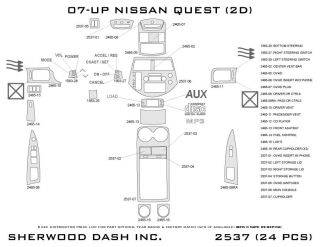 2007, 2008, 2009 Nissan Quest Wood Dash Kits   Sherwood Innovations 2537 N50   Sherwood Innovations Dash Kits