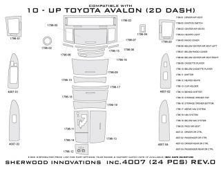 2010 Toyota Avalon Wood Dash Kits   Sherwood Innovations 4007 CF   Sherwood Innovations Dash Kits