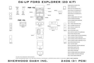 2010, 2011 Ford Explorer Wood Dash Kits   Sherwood Innovations 2406 R   Sherwood Innovations Dash Kits