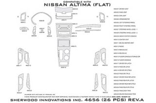 2013 Nissan Altima Wood Dash Kits   Sherwood Innovations 4656 AD   Sherwood Innovations Dash Kits